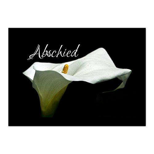 15 x Trauerkarten mit 15 Umschlägen im Set - Einladung Beerdigung, Anzeige, Trauer, Sterbefall, Friedhof, Begräbnis