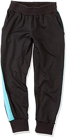 FIND Mädchen Sporthose mit Kontraststreifen, Schwarz (Black/turquoise), 6 Jahre