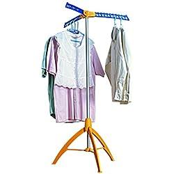 Étendoir à linge parapluie 33 cintres VISTA Orange et bleu