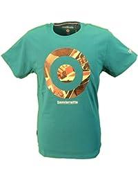 Lambretta Mens Teal Green Target with Union Jack Guitar Retro T-Shirt