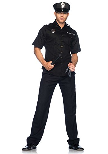 Leg Avenue 83122 - Cuff Em'Cop Männer Kostüm, Größe XL (Schwarz)