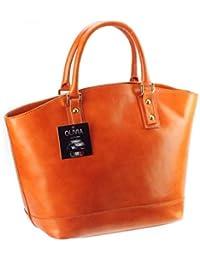 Olivia - Cabas / Sac à main cuir marron/camel Sac en cuir véritable N1578 / Cuir Italien / LIVRAISON GRATUITE - Marron