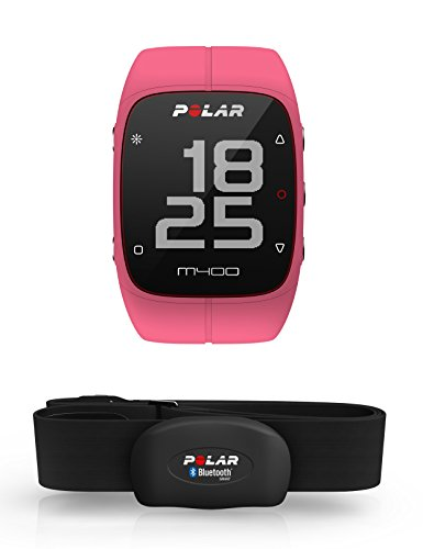 Polar M400 GPS Watch with Heart Rate Monitor – Pink
