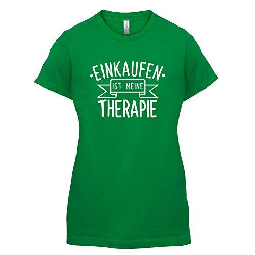 Einkaufen ist meine Therapie - Damen T-Shirt - 14 Farben Grün