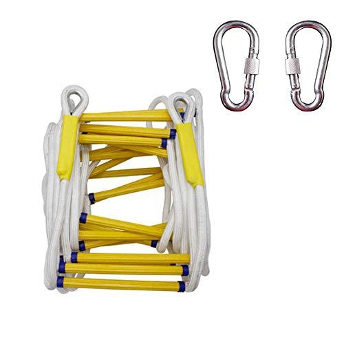 Yaxuan Seilleitern Soft Ladder Resin 20 M High Climbing Non-Slip Rope Leitern Luftauflage Notfall-Arbeitssicherheit Sicherheits-Brandschutz Feuerwehr Rock Klettern Escape,5meters -