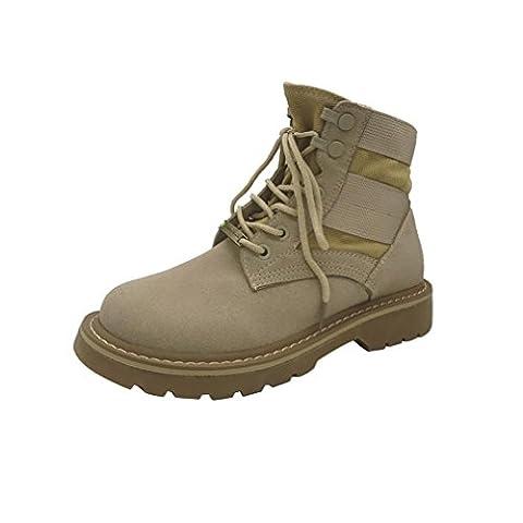 Martin Chaussures, GreatestPAK Femmes Lacer Faible Talon Rond Doigt de pied Hiver chaud Martin Cheville Démarrage Chaussures (EU:35,