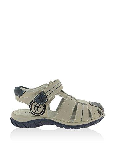 Sandale en cuir Chetto - gris