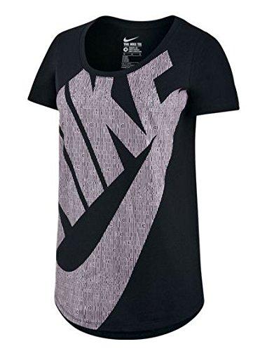 Nike Damen-T-Shirt Futura Glyph Fill XS Nero (BLACK/BLACK/OBSIDIAN) (Jordan Retro 3 Sport Blue)