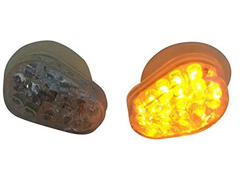 Par Carenado Montaje Empotrado Marca E Indicadores LED para Moto Transparente Lente