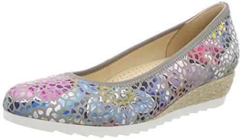 Gabor Shoes Damen Comfort Sport Geschlossene Ballerinas, Grau (Stone (Jute)), 39 EU