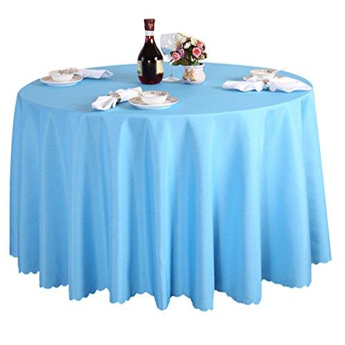 Heheja Nappe Table Rond en Satin Mariage Cérémonie Restaurant fête Nappe Light Bleu 220cm