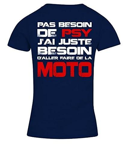 Pas Besoin De Psy Moto T-shirt Femme Teezily