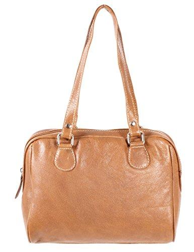 Rl 664 London Tan Mesdames sac à main en cuir véritable – Oxbridge Medium Fashion Bag