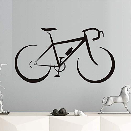 wlwhaoo Kreative Modische Fahrrad Wandaufkleber Kinderzimmer Vinyl Abnehmbare DIY Selbstklebende Tapete Wohnkultur Wasserdicht Kunst Aufkleber schwarz 105 cm X 59 cm -