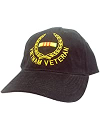 Vietnam Vet Wreath Cap, Black