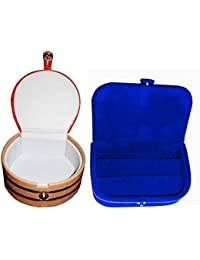 Afrose Combo Blue Ear Ring Box And Bangle Box Jewelry Vanity Case