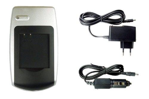 Caricabatteria CGA-S007/DMW-BCD10 per Panasonic Lumix DMC-TZ1, TZ2, TZ3, TZ4