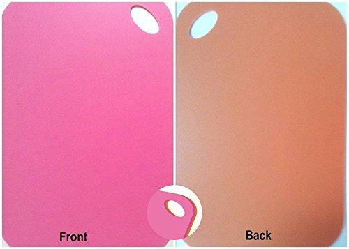 UESTA Double Couleurs Chaque Côtés Plastique Coupe Planche Hacher Bloc 36 X 24 cm (Orange/Rose)