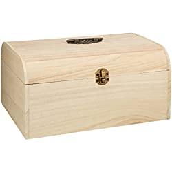 Rayher RAYHER coffret en bois avec des ornements antiques, 29,5 x 20,5 x 14cm