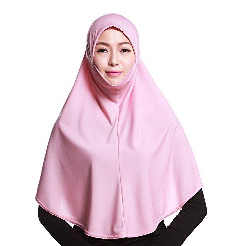 iBaste Kopftuch Damen Muslim Kopftuch Hijab Islamischen Schal Weicher Einfarbig-RS
