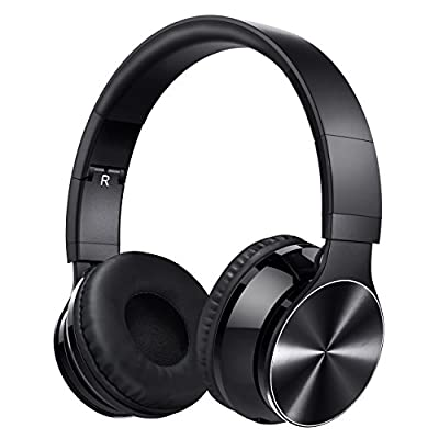 Bluetooth Headphones, OMorc Rechargeable Over the Head Wireless Bluetooth 4.0 Stereo Foldable Headset Earphones Sports Headphones with Noise Cancellation Technology - Supports Wireless Music Streaming and Hands-Free Calling and 3.5mm Wired Audio-In For iP