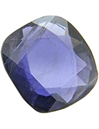 AKSHAY GEMS 9.25-9.50 Ratti Lab Certified Natural Blue Sapphire/Neelam Cushion Gemstone For Astrological Purpose