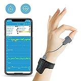 Viatom Pulsossimetro da polso con display, monitor di saturazione dell'ossigeno di sonno, allarme vibrazione intelligente per russare e apnea notturna, CPAP Machine Aid per Sp02