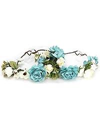Diadema de flores, linda hermosa hecha a mano exquisita venda de la flor del pelo