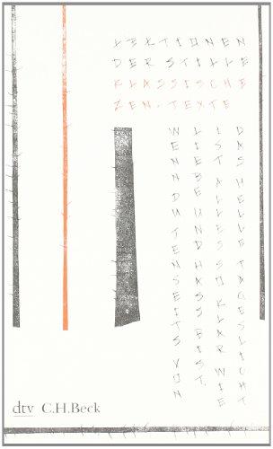 Buchseite und Rezensionen zu 'Lektionen der Stille: Klassische Zen-Texte' von Helwig Schmidt-Glintzer