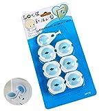 Weiß Steckdosensicherung 6 Pack Baby Proofing Sicherheit Elektrisch Outlet Protektoren Kindersicher Buchsenabdeckungen mit Sicherer Schlüssel von SamGreatWorld