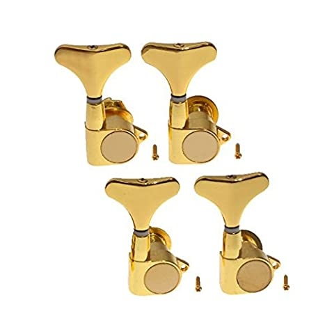Musiclily 4-in-line Bass Sealed Tuner Tuning Keys Pegs Machine Head Set Right Hand for 4 String Bass