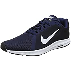 Nike Downshifter 8, Zapatillas de Running para Hombre, Azul (Midnight Navy/White-Dark Obsidian-Black 400), 47.5 EU