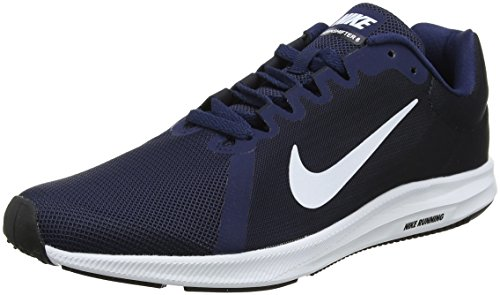 Nike Downshifter 8, Zapatillas de Entrenamiento para Hombre, Azul (Midnight Navy/White-Dark Obsidian-Black 400), 44 EU