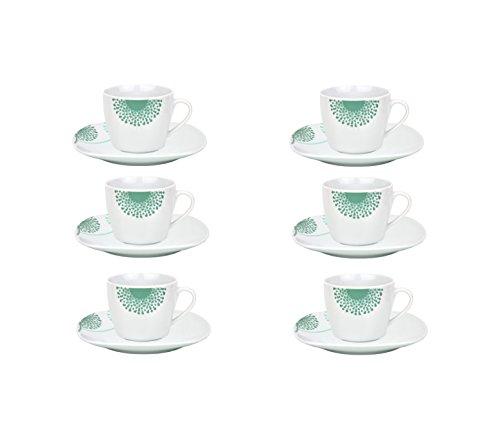 6er Set Espressotasse mit Untertasse Modena Pusteblume