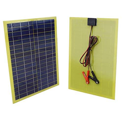 Eco-worthy pannello solare epossidico 20 watt con cavo da 2m e clip da 30a per caricabatterie da campeggio da 12v