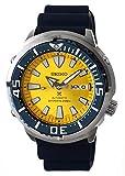 Seiko Prospex SRPD15K1 Montre de plongée avec Cadran Jaune Motif Papillon Bleu 200 m
