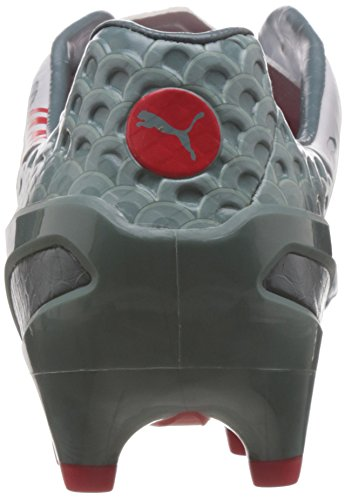 Puma - Evospeed 1.3 Graphic Fg, Scarpe da calcio Uomo Weiß (white-sea pine-high risk red 01)