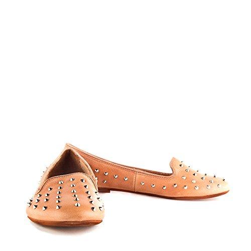 Felmini - Scarpe Donna - Innamorarsi com Lisboa 7951 - Scarpe ballerine - Pelle Genuina - Marrone chiaro Marrone chiaro