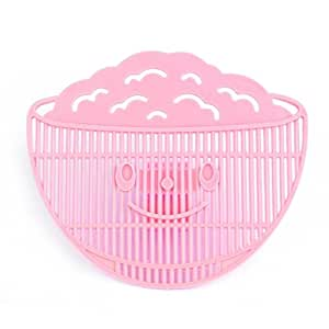Generic 2017 Durable 1Pcs Home Kitchen Manual Clean Rice Wash Rice Sieve Environmental Clip Style Rice Washing Sieve Kitchen Accessories-Pink