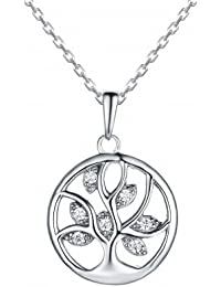 Tree Of Life Seven Stone Necklace, Necklace For Women- By Ornate Jewels