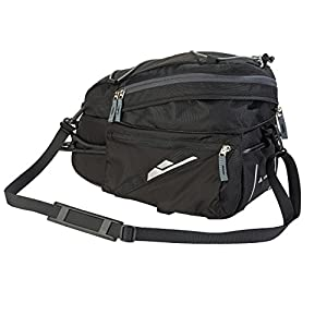 Vaude Off Road Bag 10869 - Maleta, 38 cm, 7+3 L, color negro, talla (21 x 19 x 38 cm)