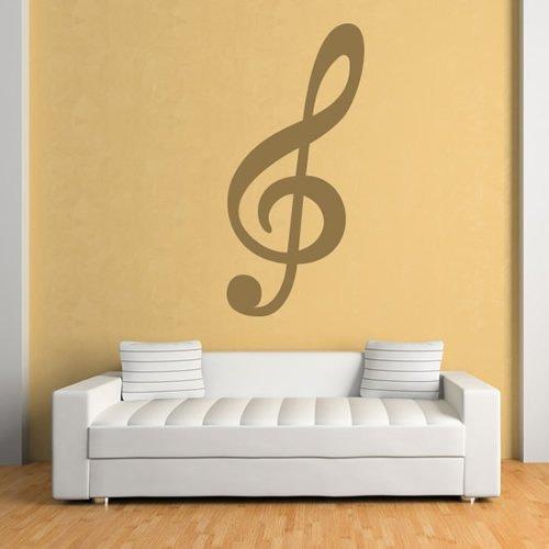 Azutura chiave di violino adesivo murale note musicali adesivo da parete musica per camera da letto per bambini home decor disponibile in 5 dimensioni e 25 colori x-grande viola