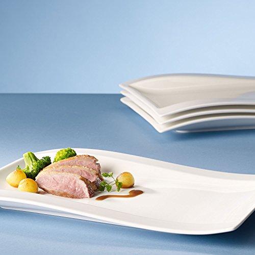 Villeroy & Boch NewWave Gourmet-Set / Tellerset in modernem Design aus weißem Premium Porzellan / Ergänzung zu NewWave Tafelservice / spülmaschinenfest / 1 x Set (4-teilig) - 5