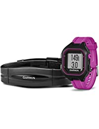 Garmin Forerunner 25 Bundle with Heart Rate Monitor Large - Black and Red Black/Purple Small