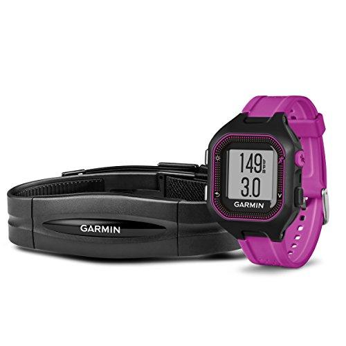 Garmin Forerunner 25 - Negro/Púrpura HRM con pulsómetro