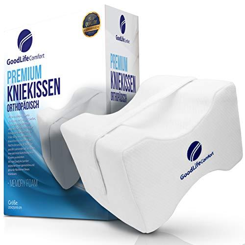 NEUEINFÜHRUNG 2020 - Das Original - Orthopädisches Kniekissen für Seitenschläfer - Für Ein Besseren Schlaf - Hochwertiges Beinkissen mit Klettverschluss Strap - Sorgt für Druckentlastung im Rücken