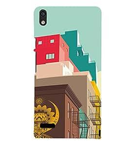 EPICCASE Metro life Mobile Back Case Cover For Huawei Ascend P6 (Designer Case)