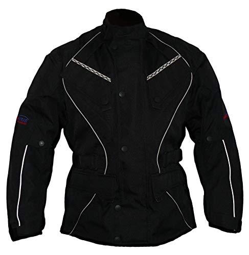 Protectwear giacca da motociclista, giacca tessile WCJ-101, nero, Taglia 62 / 5XL