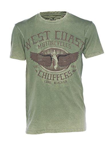 West Coast Choppers T-Shirt Wings Logo Tee, Farbe:green/black;Größe:XXL - Gang Green T-shirt