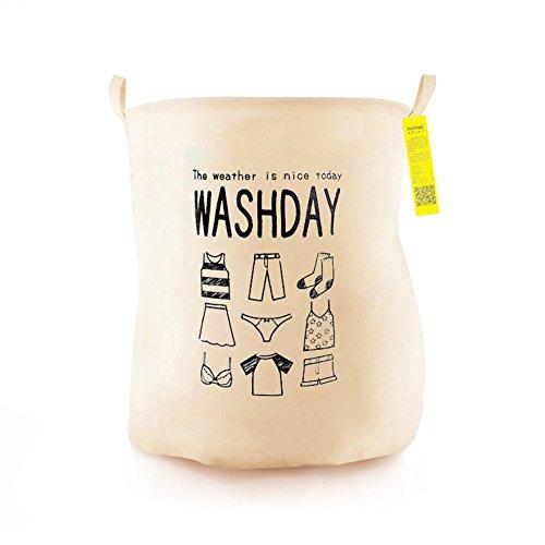JAYLONG Großer Waschkorb 2 Pcs, Zusammenklappbare Stoff Wäsche, Faltbare Kleidertasche, Klapp Waschbär (6 Stile) Für Den Schul Schlaf Mit Zu Hause,A